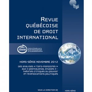 Hors-série novembre 2012 Des analyses « Tiers-mondistes aux Postcolonial Studies