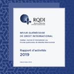Rapport d'activités 2019 de la RQDI