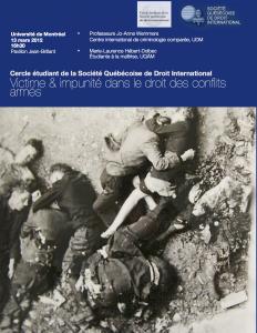 Affiche de la deuxième conférence du Cercle étudiant
